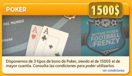 Betfair poker promocion bono