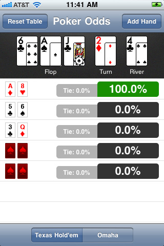Iphone calculadora de probabilidades de poker
